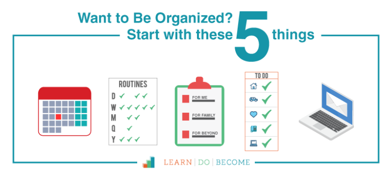 [PODCAST 26]: Want to Be Organized? Start With These Five Things